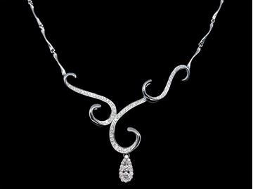 圖片 18K白金鑽石頸鏈